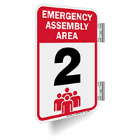 Emergency Assembly Area Number 2 Double Sided Sign