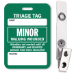 Minor Walking Wounded Triage Tag