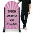 Upload Any Design Rounded Top Custom Sign Panel