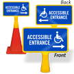 Accessible Entrance Arrow ConeBoss Sign