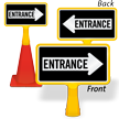 Entrance Arrow ConeBoss Sign