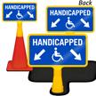 Handicapped Parking Arrow ConeBoss Sign