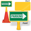 Parking Right Arrow ConeBoss Sign