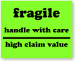 Fragile Handle Care High Value Label