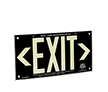 Black background, wording EXIT
