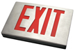 Cast Aluminum Exit Sign with Aluminum Face