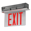 New York-Approved Recessed Edge-Lit LED Exit Sign