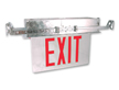 Recessed Edge-Lit Exit Sign for Non-Accessible Ceilings