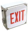 Wet Location LED Exit Sign, AC Only