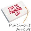 Exit To Parking Lot LED Exit Sign with Battery Backup