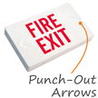 Fire Exit LED Exit Sign with Battery Backup