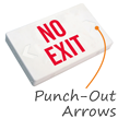 No Exit LED Exit Sign with Battery Backup