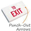 To Exit LED Exit Sign with Battery Backup