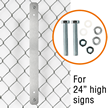Fence Bracket for 24 in. Signs