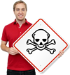 GHS Skull & Crossbones Toxic Pictogram ISO Sign