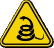 ISO Beware Of Rattlesnakes Symbol Warning Sign