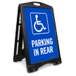 Accessible Parking In Rear Sidewalk Sign