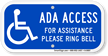 For Assistance Please Ring Bell ADA Access Sign
