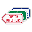 Add Your Custom Directions Left Arrow Sign
