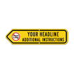 Add Your Custom Headline Left Arrow Sign