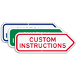 Add Your Custom Instructions Right Arrow Sign