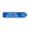 Add Your Custom Pool Instructions Right Arrow Sign