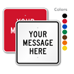 Custom Square Sign Template