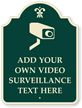 Custom Video Surveillance Palladio Sign With Motif