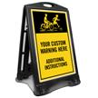Add Warning and Additional Instructions Custom Sidewalk Sign