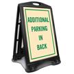 Additional Parking In Back Reserved Sidewalk Sign Kit