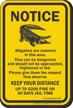 Keep Your Distance, South Carolina Alligator Warning Sign