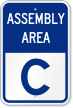 Emergency Assembly Area C Sign