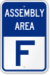 Emergency Assembly Area F Sign