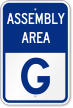 Emergency Assembly Area G Sign