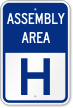 Emergency Assembly Area H Sign