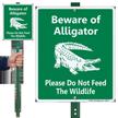 Beware Of Alligator LawnBoss Sign & Stake Kit