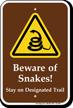 Beware Of Snakes Warning Sign
