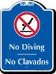 Bilingual No Diving Signature Sign