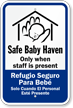Bilingual Safe Baby Haven Sign