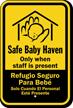 Bilingual Safe Baby Haven Sign