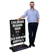Standard Springer Sidewalk Sign Holder and Letter Kit