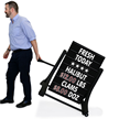 Black Rolling Standard Swinging Changeable Message Board Sign
