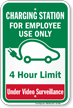Charging Station For Employee Use Only Sign