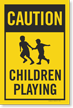 Children Playing Caution Sign Insert For Kit