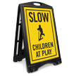 Children Cycling Sidewalk Sign Kit