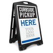 Curbside Pickup Here Add Your Logo Sidewalk Sign