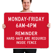 Custom Aluminum Sign - Add Weekdays And Time Limit