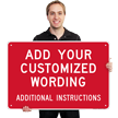 Custom Aluminum Sign - Add Wording And Instructions