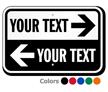 Custom Directional Parking Arrow Sign