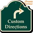 Customizable Directions Palladio Sign, Ahead Arrow
